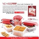 Ezy Lock 4pcs Fridge Ware Set